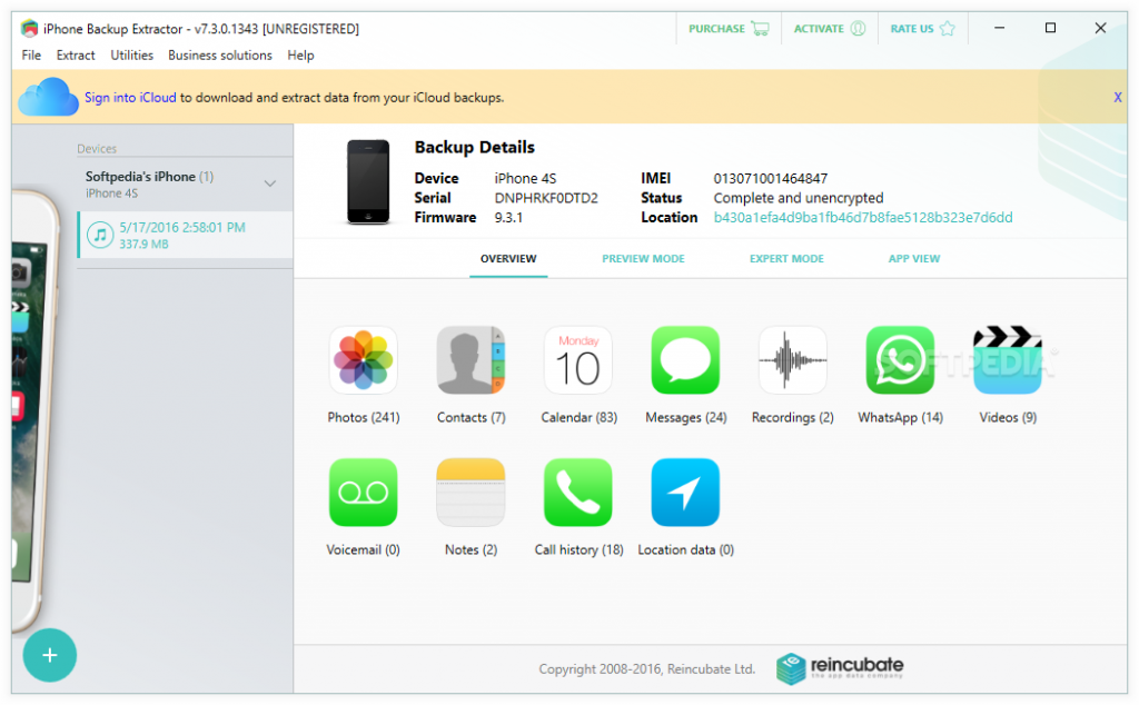 iPhone Backup Extractor Crack 7.7.32 + Serial Key Free Download